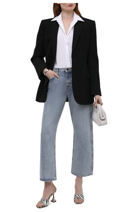 Женские кожаные мюли lupita AMINA MUADDI черно-белого цвета, арт. LUPITA SLIPPER/PRINT NAPPA/ZEBRA | Фото 2