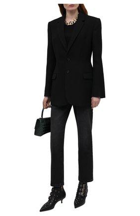 Женские кожаные ботильоны REDVALENTINO черного цвета, арт. WQ2S0G04/BDW   Фото 2