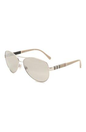 Женские солнцезащитные очки BURBERRY светло-серого цвета, арт. 3080-10056V   Фото 1