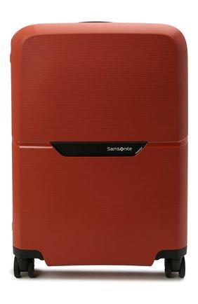 Женский дорожный чемодан magnum eco spinner SAMSONITE красного цвета, арт. KH2-96001 | Фото 1