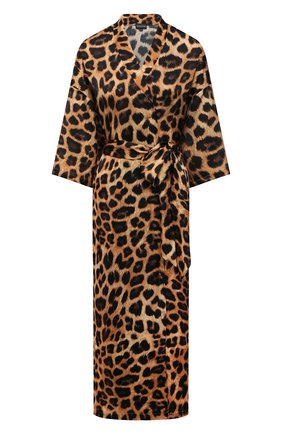 Женская туника из хлопка и шелка NATAYAKIM леопардового цвета, арт. NY-035BW | Фото 1