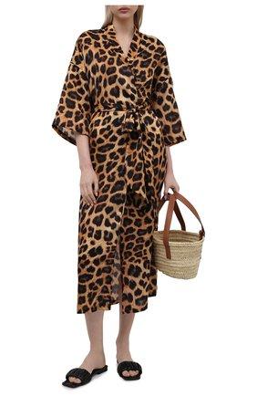 Женская туника из хлопка и шелка NATAYAKIM леопардового цвета, арт. NY-035BW | Фото 2