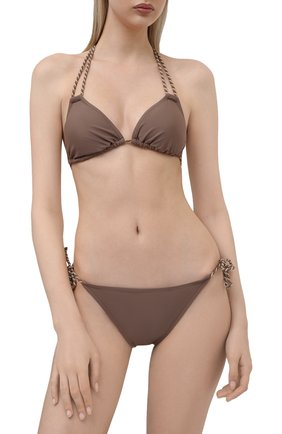 Женский плавки-бикини NATAYAKIM коричневого цвета, арт. NY-010B/19 | Фото 2