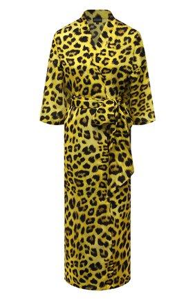 Женская туника из хлопка и шелка NATAYAKIM желтого цвета, арт. NY-035BW | Фото 1