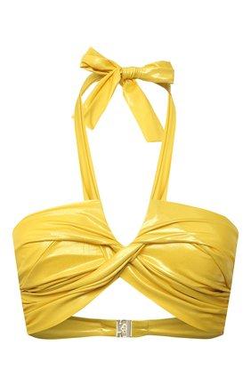 Женский бра c драпировкой NATAYAKIM желтого цвета, арт. NY-063T/19 | Фото 1
