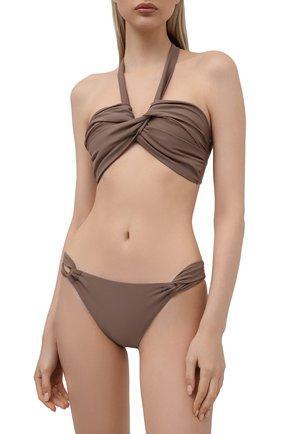 Женский бра c драпировкой NATAYAKIM коричневого цвета, арт. NY-063T/19 | Фото 2