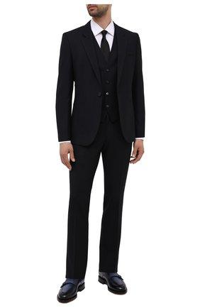 Мужской костюм-тройка HUGO темно-синего цвета, арт. 50454953 | Фото 1