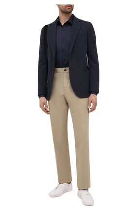 Мужская хлопковая сорочка BOSS темно-синего цвета, арт. 50445840 | Фото 2