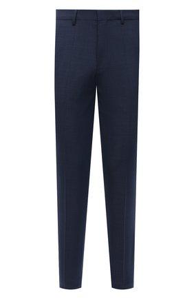 Мужские шерстяные брюки HUGO темно-синего цвета, арт. 50454270 | Фото 1