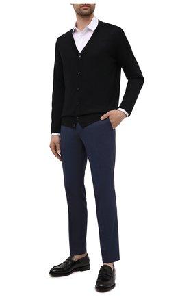 Мужские шерстяные брюки HUGO темно-синего цвета, арт. 50454270 | Фото 2