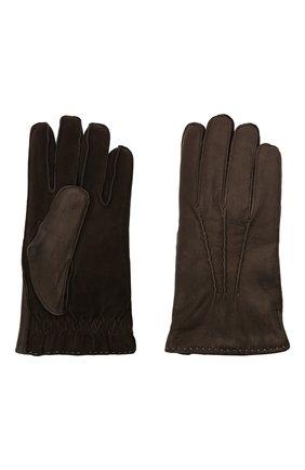 Мужские кожаные перчатки MOORER темно-коричневого цвета, арт. GUANT0-VEN-DER/M0UGU100005-TEPA379 | Фото 2