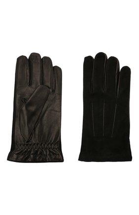 Мужские комбинированные перчатки MOORER черного цвета, арт. GUANT0-NERV-NCM/M0UGU100004-TEPA378 | Фото 2