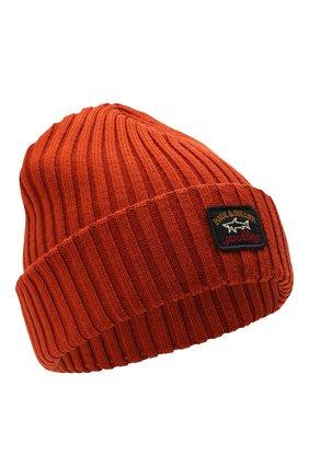 Мужская шерстяная шапка PAUL&SHARK оранжевого цвета, арт. C0P1051/FLV | Фото 1