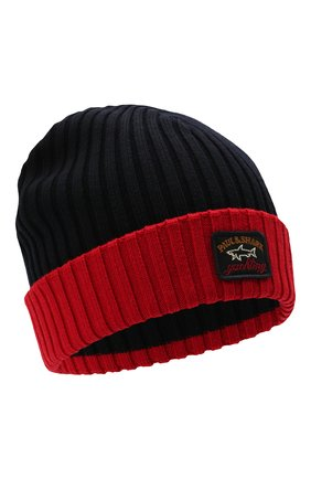 Мужская шерстяная шапка PAUL&SHARK бордового цвета, арт. C0P1054/FLV | Фото 1