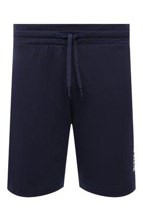 Мужские хлопковые шорты CALVIN KLEIN темно-синего цвета, арт. KM0KM00602 | Фото 1