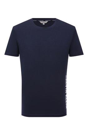 Мужская хлопковая футболка CALVIN KLEIN темно-синего цвета, арт. KM0KM00604 | Фото 1