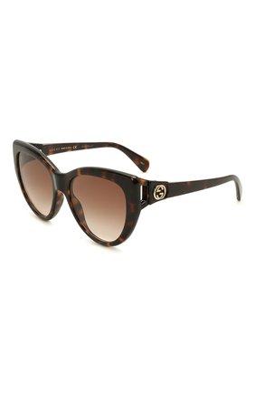 Женские солнцезащитные очки GUCCI коричневого цвета, арт. GG0877S 002   Фото 1