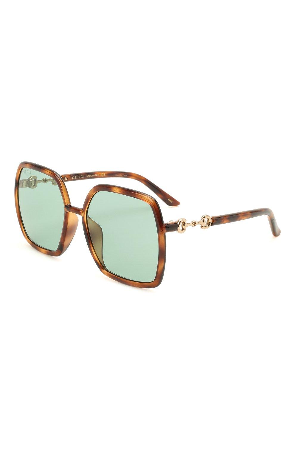 Женские солнцезащитные очки GUCCI коричневого цвета, арт. GG0890SA 003   Фото 1