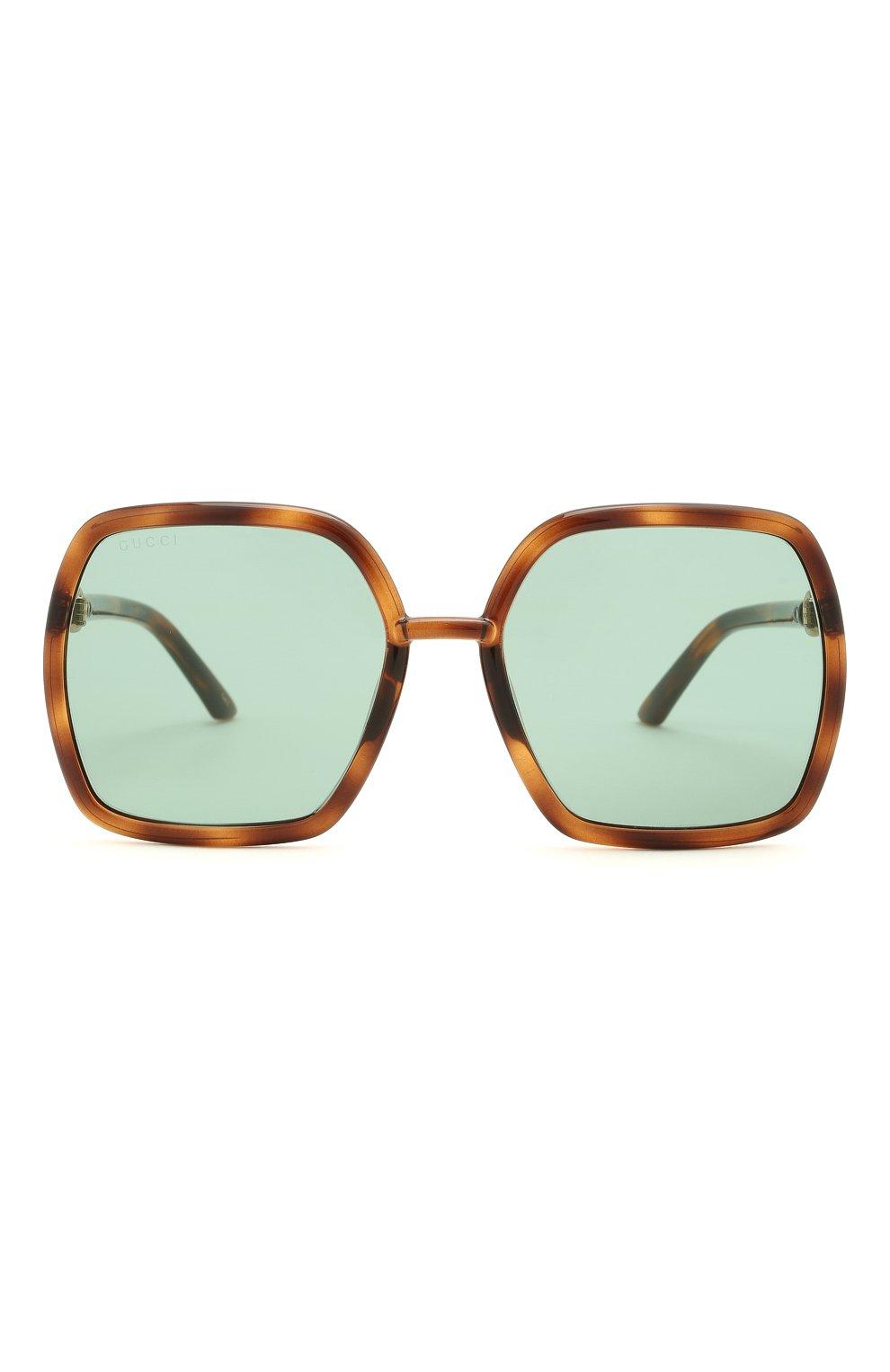 Женские солнцезащитные очки GUCCI коричневого цвета, арт. GG0890SA 003   Фото 3