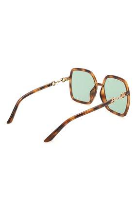 Женские солнцезащитные очки GUCCI коричневого цвета, арт. GG0890SA 003   Фото 4