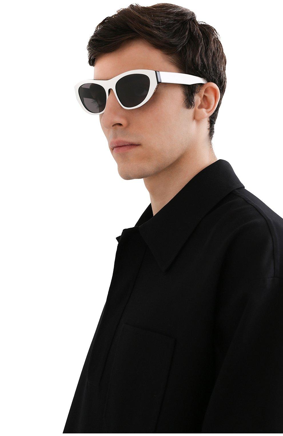 Женские солнцезащитные очки GCDS черно-белого цвета, арт. GD0010 21A | Фото 3 (Тип очков: С/з; Очки форма: Cat-eye; Оптика Гендер: оптика-унисекс)