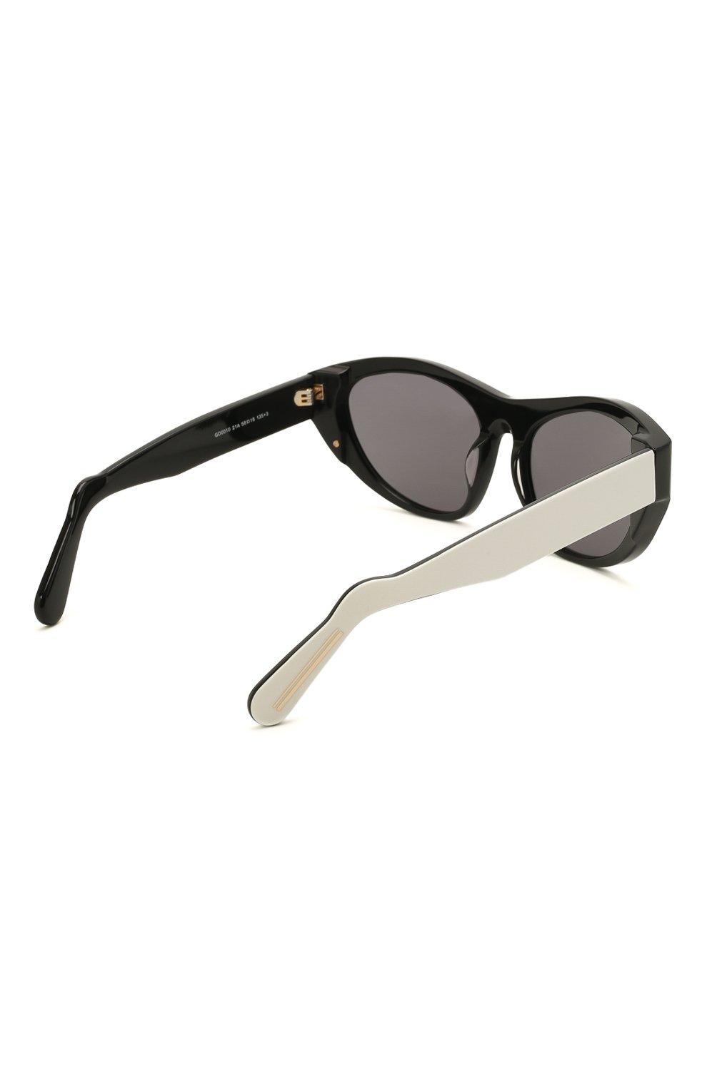 Женские солнцезащитные очки GCDS черно-белого цвета, арт. GD0010 21A | Фото 5 (Тип очков: С/з; Очки форма: Cat-eye; Оптика Гендер: оптика-унисекс)