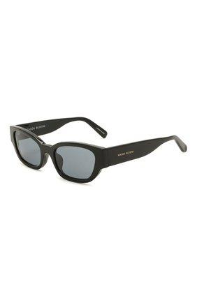 Женские солнцезащитные очки MAGDA BUTRYM черного цвета, арт. MAGDA4C3 SUN   Фото 1