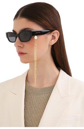 Женские солнцезащитные очки MAGDA BUTRYM черного цвета, арт. MAGDA4C3 SUN   Фото 2