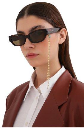 Женские солнцезащитные очки MAGDA BUTRYM коричневого цвета, арт. MAGDA4C5 SUN   Фото 2