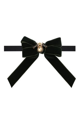 Детский галстук-бабочка ALETTA темно-зеленого цвета, арт. AA210990-61 | Фото 1 (Материал: Текстиль, Синтетический материал)