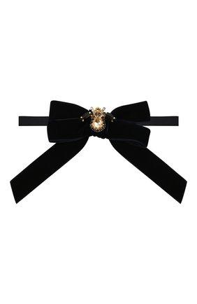 Детский галстук-бабочка ALETTA темно-синего цвета, арт. AA210990-61 | Фото 1 (Материал: Текстиль, Синтетический материал)