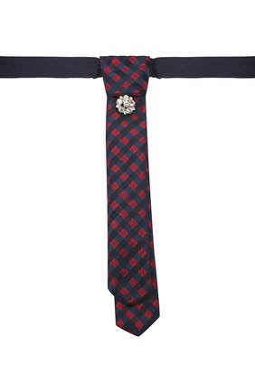 Детский галстук ALETTA разноцветного цвета, арт. AA210983-63 | Фото 1 (Материал: Текстиль, Синтетический материал)