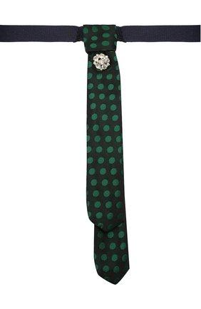 Детский галстук ALETTA зеленого цвета, арт. AA210983-63 | Фото 1 (Материал: Текстиль, Синтетический материал)