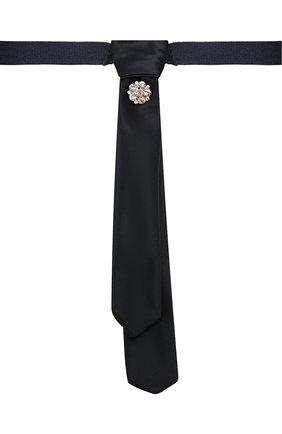 Детский галстук ALETTA темно-синего цвета, арт. AA210983-63 | Фото 1 (Материал: Текстиль, Синтетический материал)