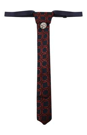 Детский галстук ALETTA красного цвета, арт. AA210983-63 | Фото 1 (Материал: Текстиль, Синтетический материал)