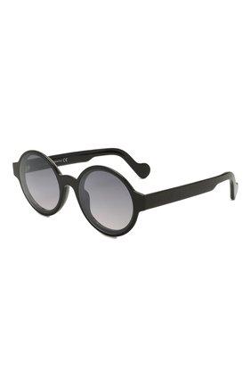 Женские солнцезащитные очки MONCLER черного цвета, арт. ML 0172 01B 51 с/з очки   Фото 1