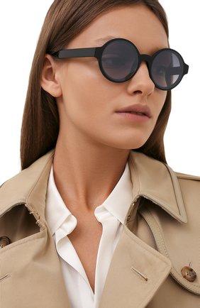 Женские солнцезащитные очки MONCLER черного цвета, арт. ML 0172 01B 51 с/з очки   Фото 2