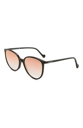 Женские солнцезащитные очки MONCLER черного цвета, арт. ML 0177 05T 56 с/з очки   Фото 1