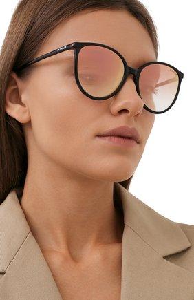 Женские солнцезащитные очки MONCLER черного цвета, арт. ML 0177 05T 56 с/з очки   Фото 2