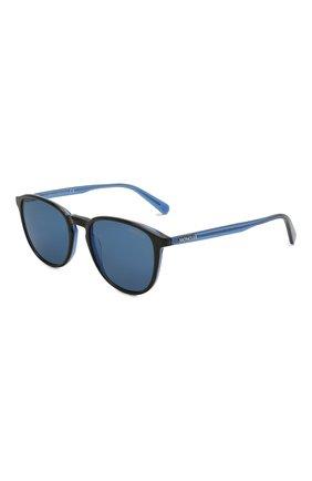 Женские солнцезащитные очки MONCLER синего цвета, арт. ML 0190 92D 54 с/з очки | Фото 1