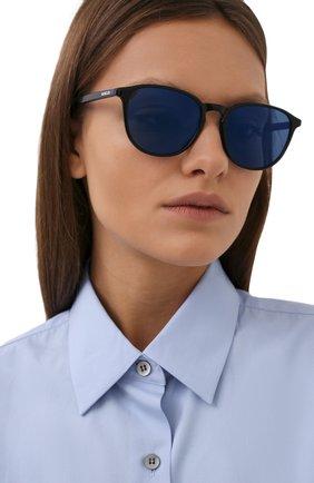Женские солнцезащитные очки MONCLER синего цвета, арт. ML 0190 92D 54 с/з очки | Фото 2