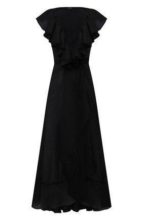 Женское платье из хлопка и шелка NATAYAKIM черного цвета, арт. NY-030BW | Фото 1