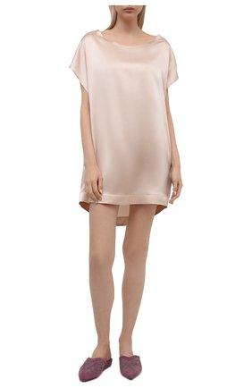 Женская шелковая сорочка MARJOLAINE светло-бежевого цвета, арт. 3SOI0505 | Фото 2