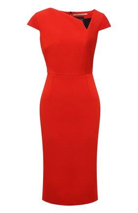 Женское платье ROLAND MOURET красного цвета, арт. EW21/S2385/F2196   Фото 1