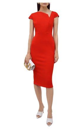 Женское платье ROLAND MOURET красного цвета, арт. EW21/S2385/F2196   Фото 2