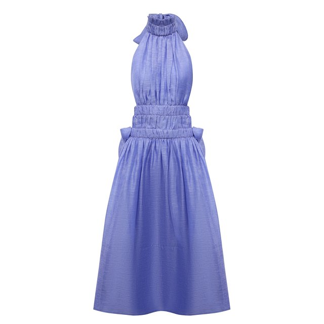Платье изо льна и шелка Zimmermann