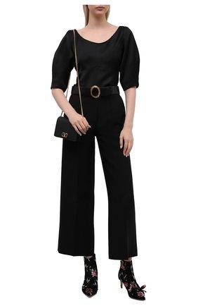 Женские текстильные ботильоны REDVALENTINO черного цвета, арт. WQ2S0D53/HQU   Фото 2