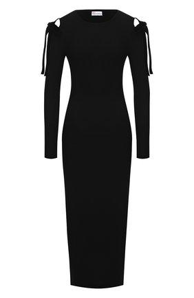 Женское платье из вискозы REDVALENTINO черного цвета, арт. WR3KD03J/649   Фото 1