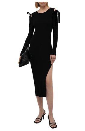 Женское платье из вискозы REDVALENTINO черного цвета, арт. WR3KD03J/649   Фото 2