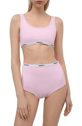 Женский раздельный купальник BURBERRY розового цвета, арт. 8039560 | Фото 2